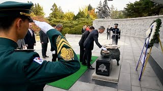 Wreath laying ceremony at the National Cemetery, Seoul, Republic of Korea, 01 NOV 2017 thumbnail