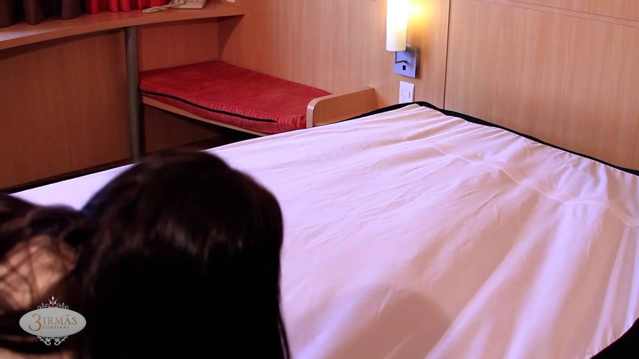 6690bdd346 Passo a Passo SAIA DE CAMA Projeto Bedding IBIS rede Accor - YouTube