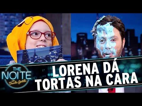 The Noite (28/07/16) - Lorena dá MUITAS tortadas em Danilo Gentili e se diverte