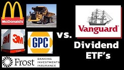 Dividend Stocks vs Vanguard Dividend ETF Portfolio | Vanguard VYM vs VIG | Vanguard Index Funds
