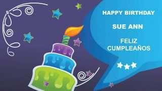 SueAnn   Card Tarjeta - Happy Birthday
