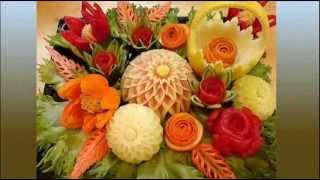 Карвинг по овощам и фруктам - сказочные украшения из овощей и фруктов!