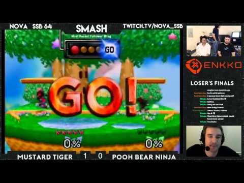 NOVA SSB64 11/19 | Mustard Tiger vs Pooh Bear NInja (Losers Finals)