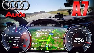 NEW Audi A7 55 TFSI (0-265km/h) TOP SPEED, Acceleration TEST ✔