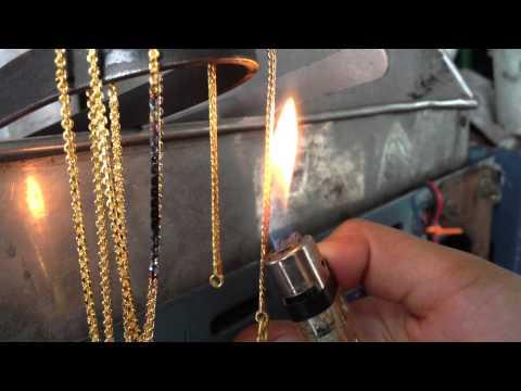 เทคนิคการตรวจสอบทองปลอม ด้วยวิธีการเผาโดยไฟแช็ค