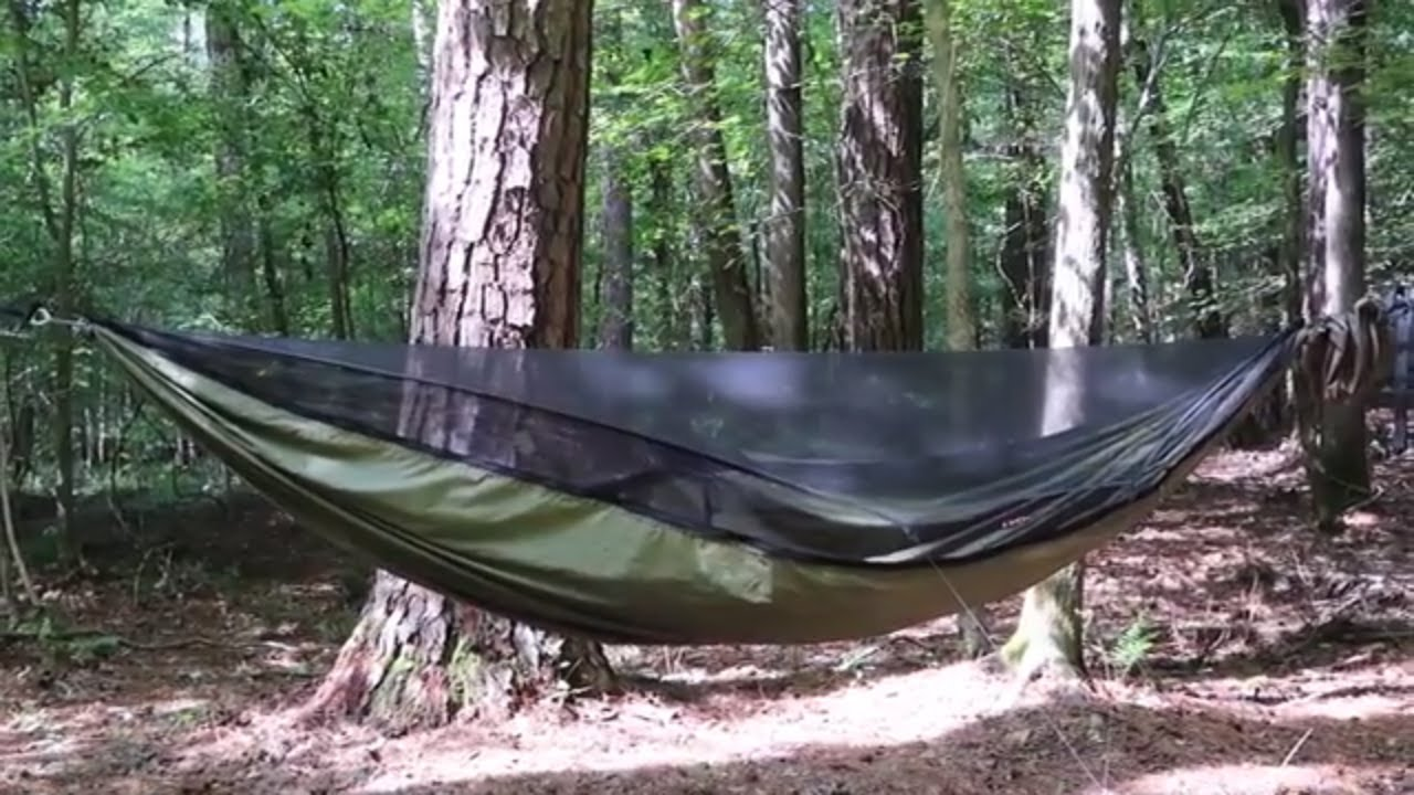 3d5887b12f6 Setting Up Warbonnet Hammock and Tarp - YouTube