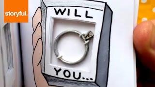 Brilliant Flip Book Marriage Proposal