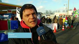 Actievoerders blokkeren Shellstation uit protest tegen sloop door NAM