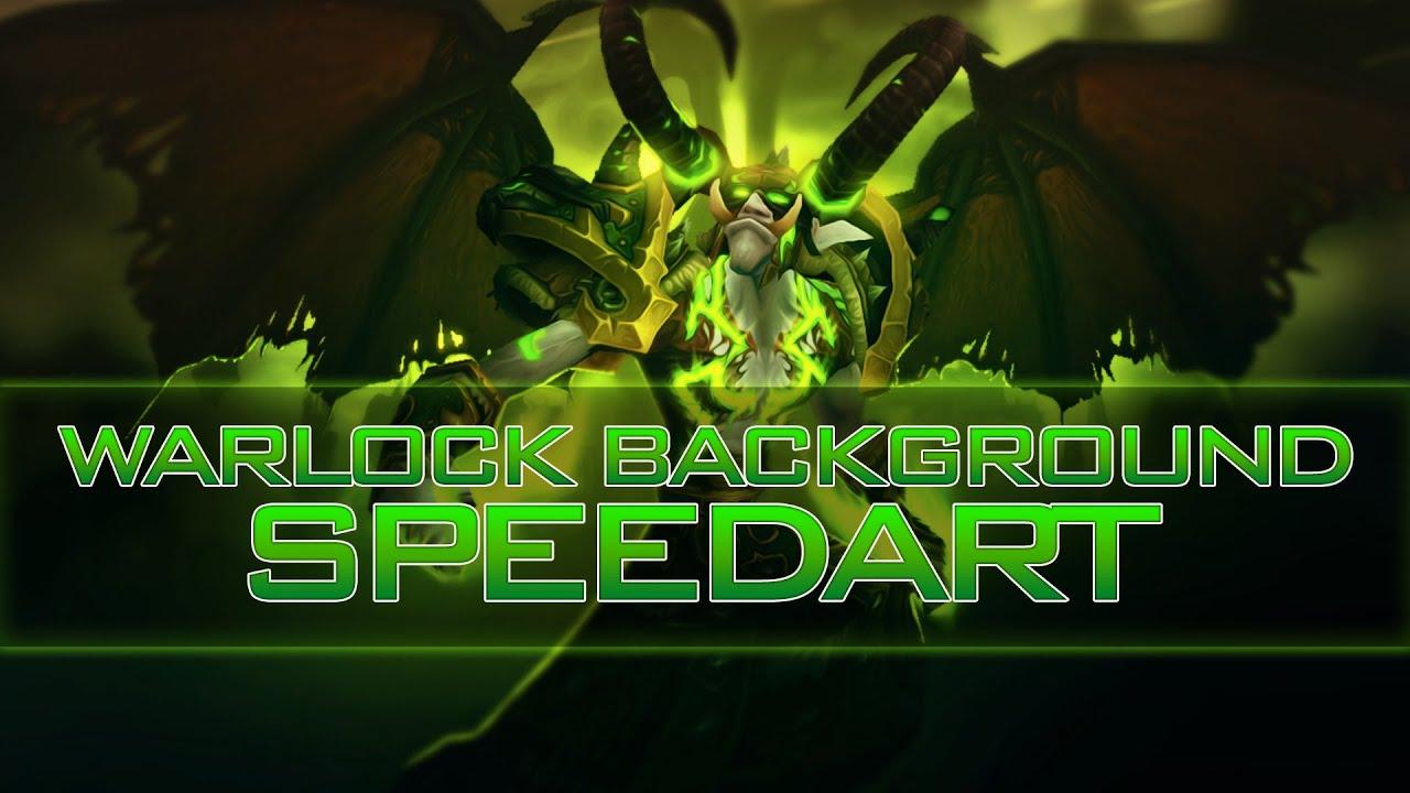 hd] warlock wallpaper speedart - youtube