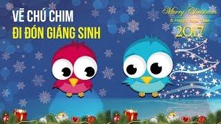 Vẽ Chú Chim Đi Đón Giáng Sinh Với CorelDraw