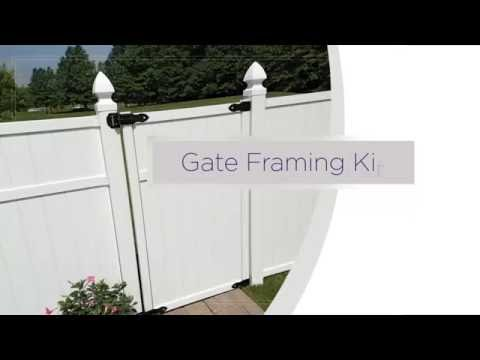 Freedom Gate Framing Kit For Pre Embled Panels Installation Overview You