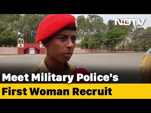 """""""Proud Of Myself"""", Says Anita K, First Woman Recruit To Join Military Police"""