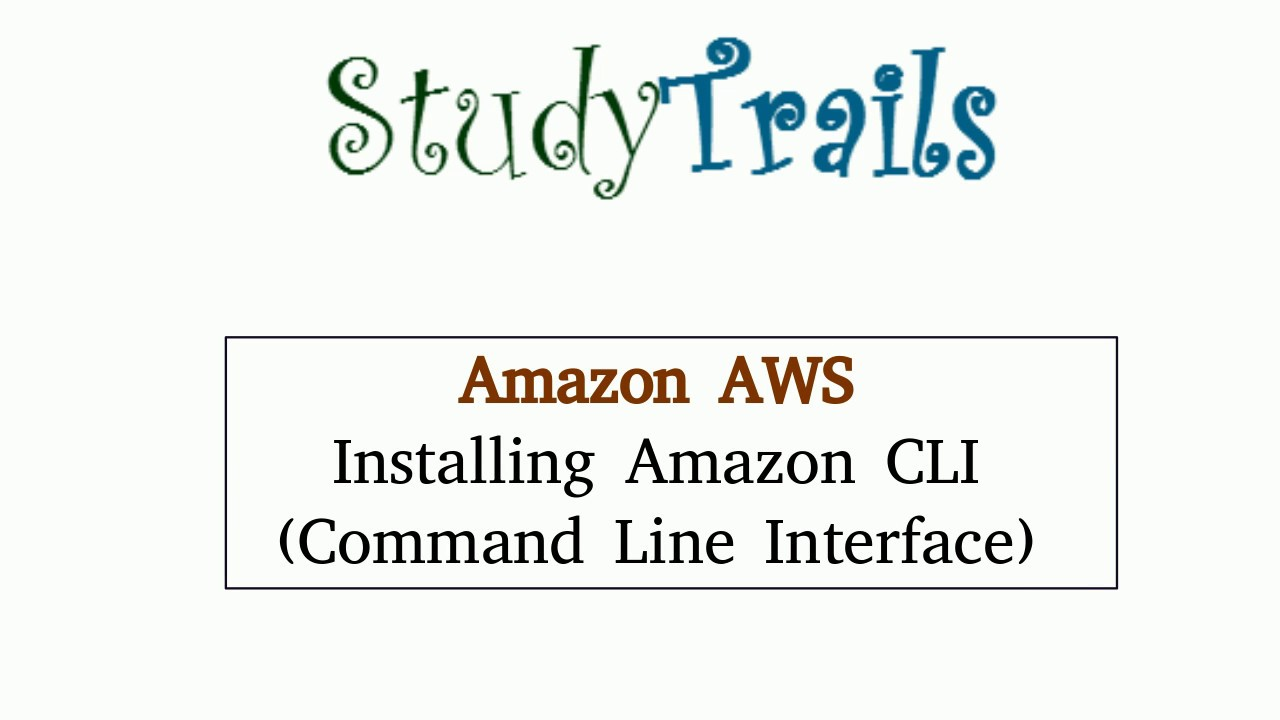 Create AWS EC2 instance using CLI – StudyTrails