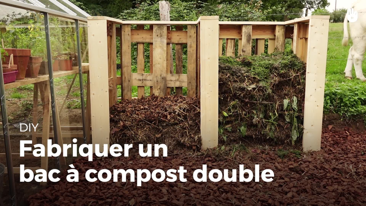 fabriquer un bac compost double compost diy youtube. Black Bedroom Furniture Sets. Home Design Ideas