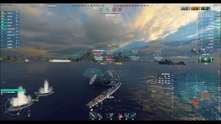 【WOWS】一般的実況61 フランスTier6巡洋艦La Galissonniere(ラ・ガリソニエール)逆転占領戦