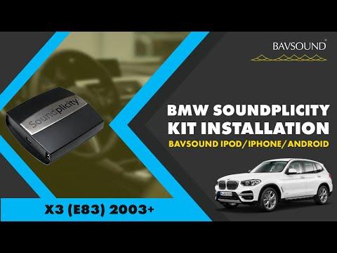 BAVSOUND - BMW X3 (E83) '03+ - Soundplicity Kit Installation - For  iPod / iPhone / Droid