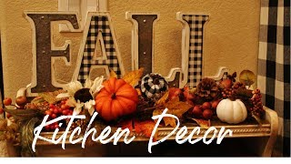 FALL KITCHEN DECOR -FALL SHOPPING HAUL - FALL DECOR 2019 - FALL DECORATE WITH ME