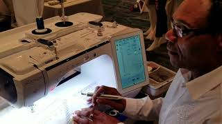 Brother Luminaire Embroidey Machine demonstrated by Brother sewing educator