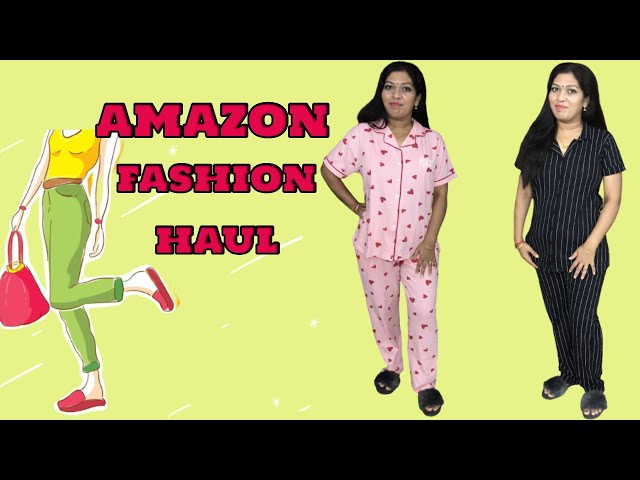 Amazon Fashion Haul/ Beautiful Night Suits/ Get upto 80% OFF /FASHION Haul #prititrendz #amazonhaul