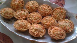 Закуска из сыра и моркови с чесноком