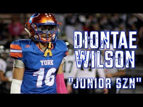 "CB Diontae Wilson    ""Junior SZN""    Class of 2019 ..."