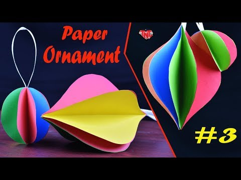 Easy Paper 3D Ornaments For Holiday Decor | DIY Christmas Decoration Ornaments