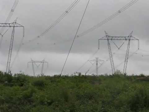 Sound of Rain on Power Lines near Radisson Quebec