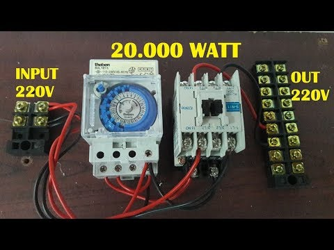switch wiring diagram drawing panduan cara pasang timer ke kontaktor youtube  panduan cara pasang timer ke kontaktor youtube
