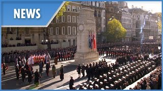 The Queen and country mark Remembrance Day at the Cenotaph