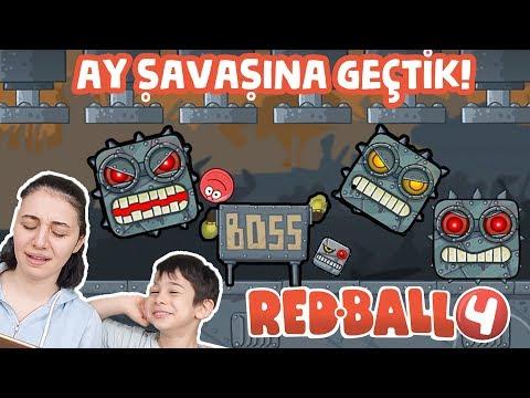RED BALL 4 BOMBACI BOSS GELDİ! KARANLIK FABRİKA BİTTİ! AY SAVAŞI KİLİDİNİ AÇTIK! (42-48 Level)