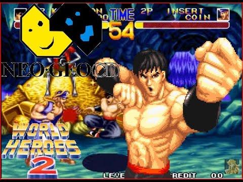 World Heroes 2 Lev 8 Kim Dragon(Bruce Lee) No Lose Playthrough