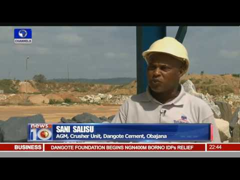 Minister Tours Dangote Cement Industry