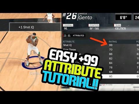 NBA 2k17 MyCAREER - How To Get +99 Attribute Boost in ONE Practice Tutorial!