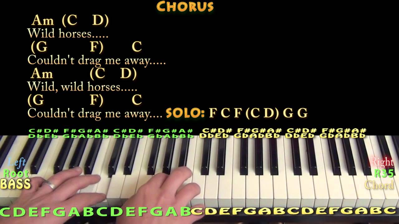 Wild horses rolling stones piano cover lesson with chordslyrics wild horses rolling stones piano cover lesson with chordslyrics youtube hexwebz Image collections