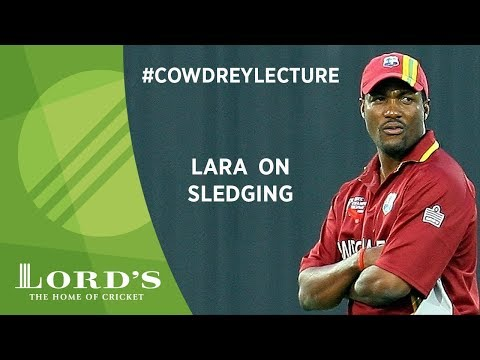 Brian Lara on sledging   2017 Cowdrey Lecture