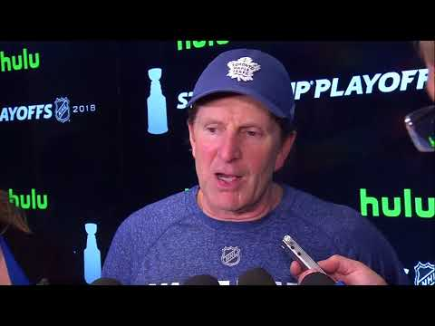 Maple Leafs Practice: Mike Babcock - April 18, 2018