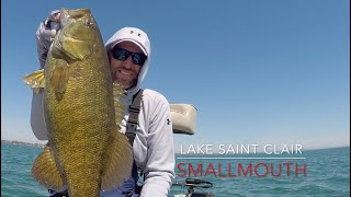 How to fish for Lake ST. CLAIR SMALLMOUTH in Spring.