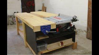 Det ultimative arbejdsbord med bordsav. Kæmpe hybrid høvlbænk.