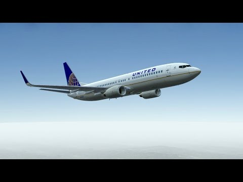 United Airlines Boeing B737 takeoff at Los Angeles International Airport