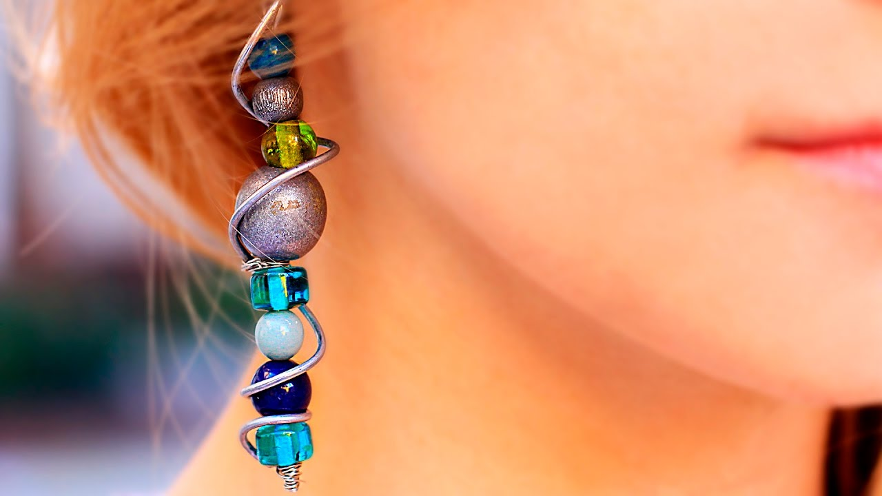 these five diy earrings lois raw stone alice gorgeous loisdiy make and minutes under in
