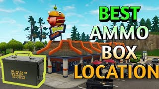 Fortnite Week 4 challenge 7 Ammo Boxes Best Location To Get All - Duuur Burger