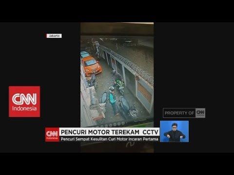 Pencuri Motor Terekam CCTV, Gondol Satu Unit Motor Sport