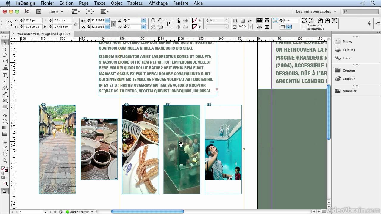 Comment Faire Un Rapport De Stage Avec Indesign Blog Du Mmi