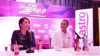 Ruco Chan 陳展鹏 & Linda Chung 鍾嘉欣 - Media Interview 记者会 TVB Star Awards Malaysia 2014