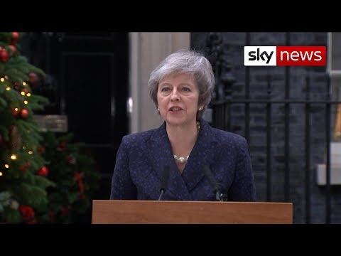 In full: Theresa May says she will stand in a vote of no confidence