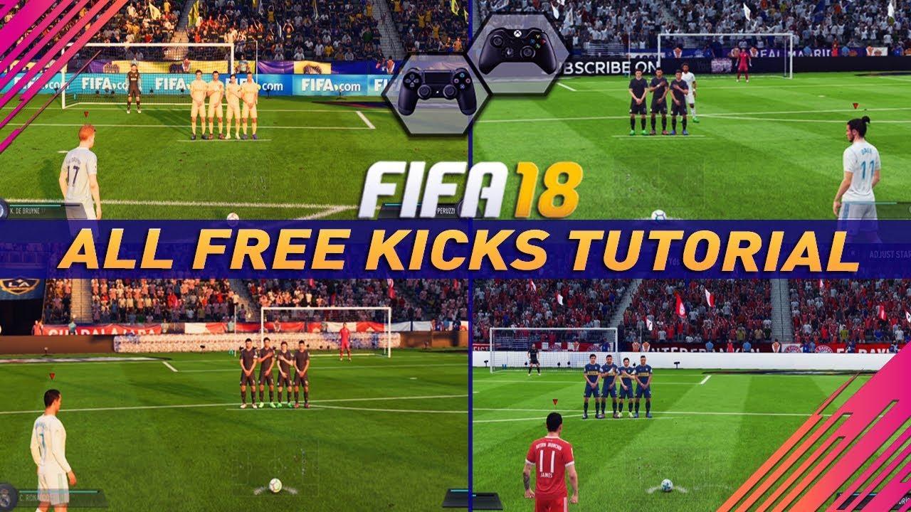 Fifa  All Free Kicks Tutorial How To Score Every Free Kick Curve Driven Dipping Trivela Power