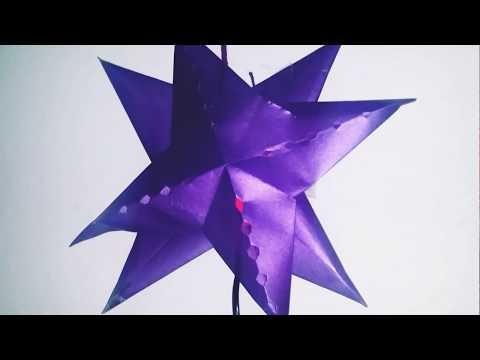 "DIY How to make Star Lantern Kandil For Diwali &lamp; Christmas Decoration"""