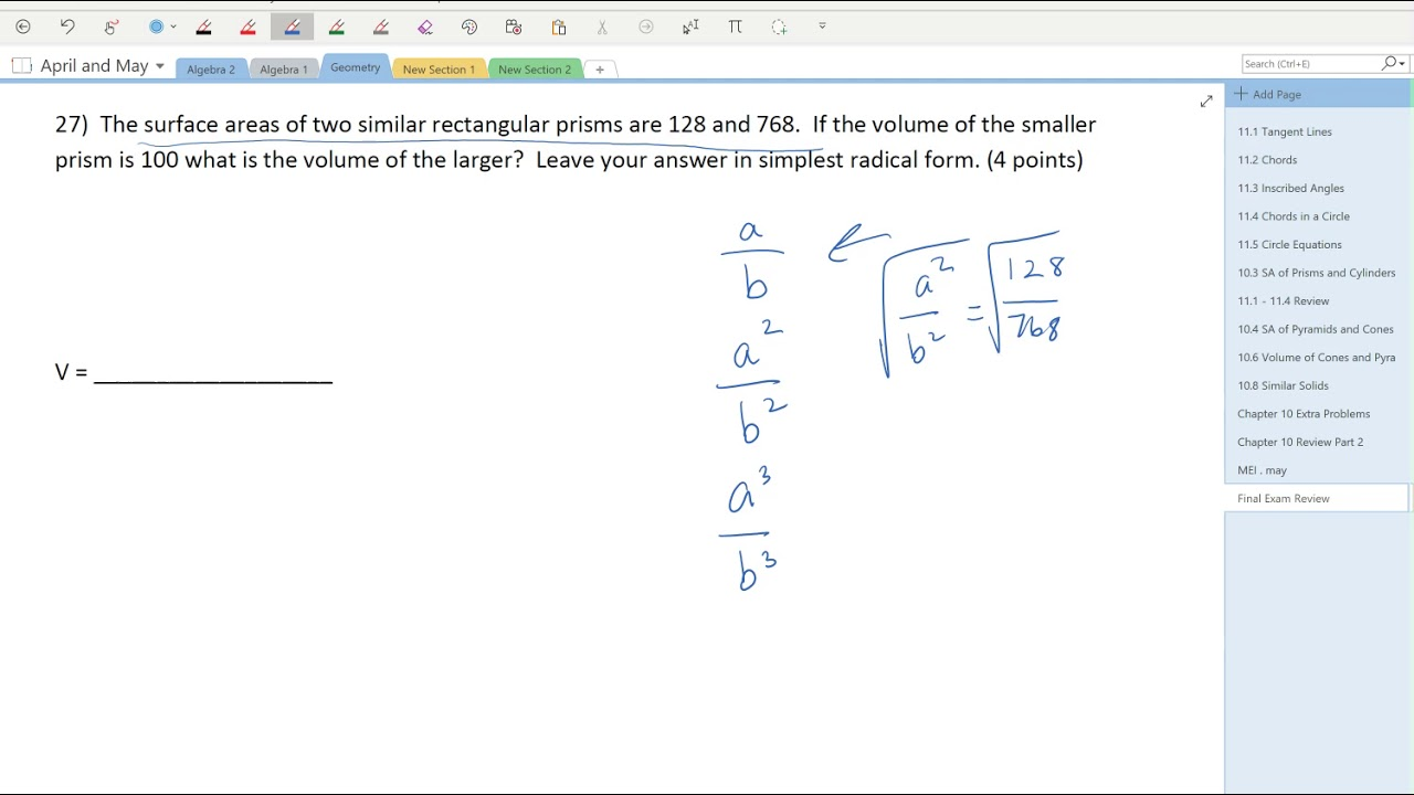 Geometry Final Exam Review Part 3 #27 - YouTube