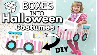 DIY Ice Cream Truck Costume | DIY Halloween Costume Idea | Amazon Prime Boxtumes | Krafts by Katelyn