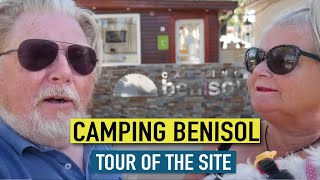 Camping Benisol in Benidorm Site Tour | The Happy Travellers tour camping benisol benidorm